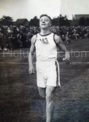 John R Tinning winning a race in Billingham as a young man