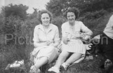 John's wife Magda (left) and John's sister Peg my Mam
